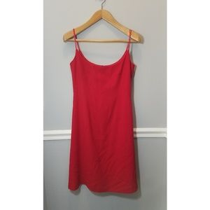 Red Sleeveless Escada Midi Dress